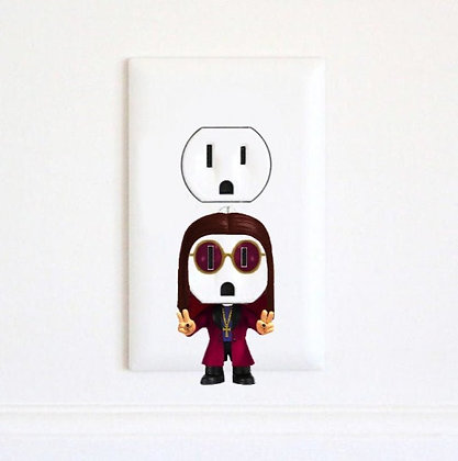Ozzy Osbourne - Black Sabbath - Electric Outlet Wall Art Sticker Decal
