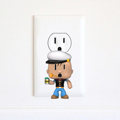 Popeye - Cartoon - Electric Outlet Wall Art Sticker