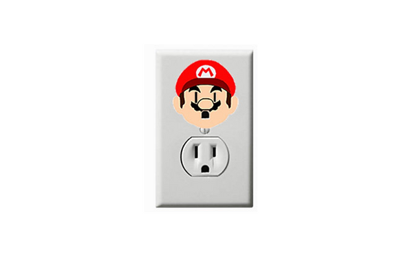 Mario- Electric Outlet Wall Art Sticker