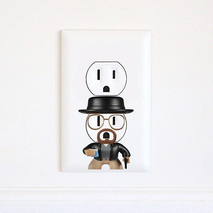 Heisenberg - Breaking Bad - Electric Outlet Sticker
