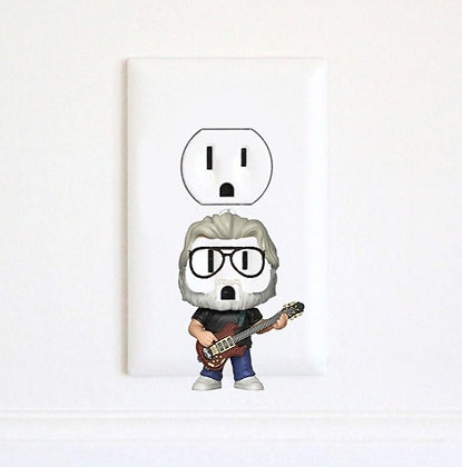Jerry Garcia - Grateful Dead - Music - Electric Outlet Wall Art Sticker