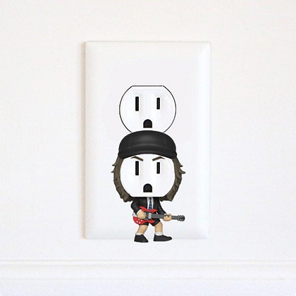 Angus Young - AC/DC - Music - Electric Outlet Wall Art Sticker
