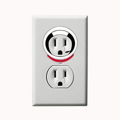 Astronaut - Space - Electric Outlet Wall Art Sticker