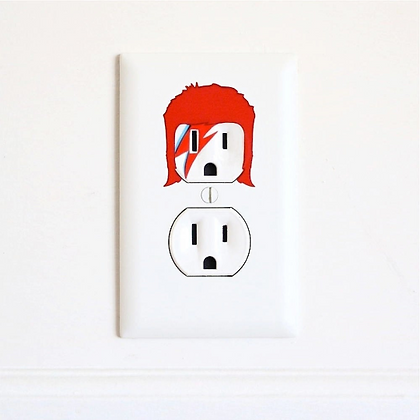 David Bowie - Ziggy Stardust - Electric Outlet Wall Art Sticker