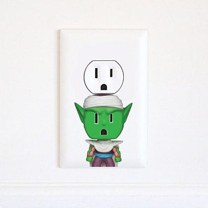 Dragon Ball Z - Piccolo - Goku - Vegeta - DBZ - Electric Outlet Wall Art Sticker