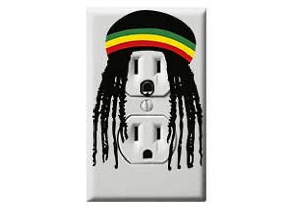 Rasta - Electric Outlet Wall Art Sticker Decal
