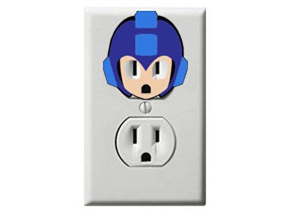 Mega Man - Electric Outlet Wall Art Sticker