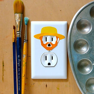 Sticker Electric outlet sticker