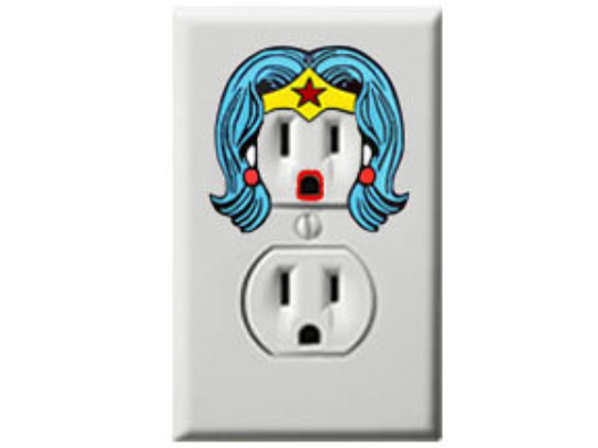 Wonder Woman - Justice League - Electric Outlet Wall Art Sticker