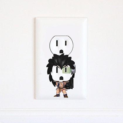 Dragon Ball Z - Raditz - Goku- Vegeta - DBZ - Electric Outlet Wall Art Sticker D