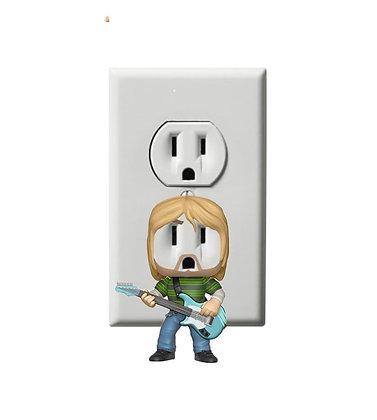 Kurt Cobain - Nirvana - Music - Electric Outlet Wall Art Sticker