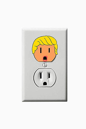 Donald Trump - President - Electric Outlet Wall Art Sticker