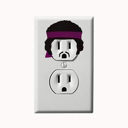 Jimi Hendirx - Music - Electric Outlet Wall Art Sticker