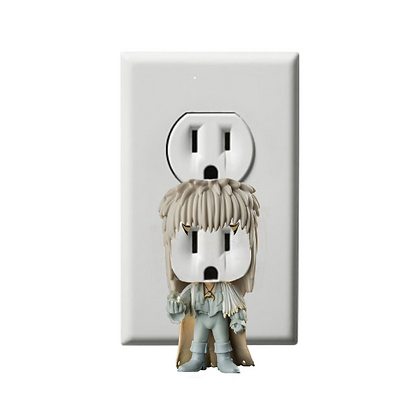 David Bowie - Ziggy Stardust - Jareth - Electric Outlet Wall Art Sticker