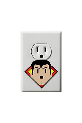 Superman - Justice League - Electric Outlet Wall Art Sticker