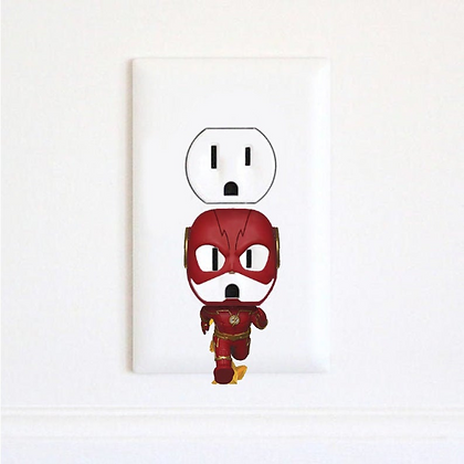 The Flash - Barry Allen - Electric Outlet Wall Art Sticker
