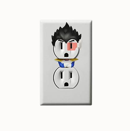 Dragon Ball Z - Goku - Vegeta - DBZ - Electric Outlet Wall Art Sticker Decal