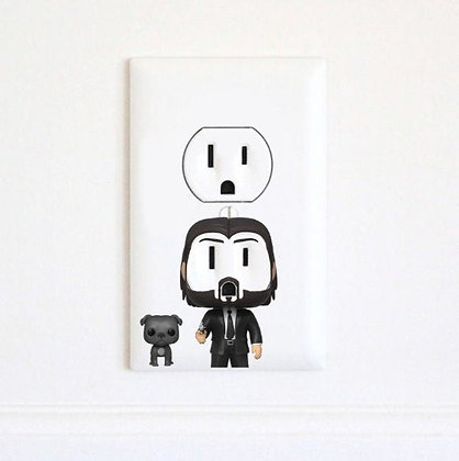 John Wick - Keanu Reeves - Electrc Wall Art Sticker