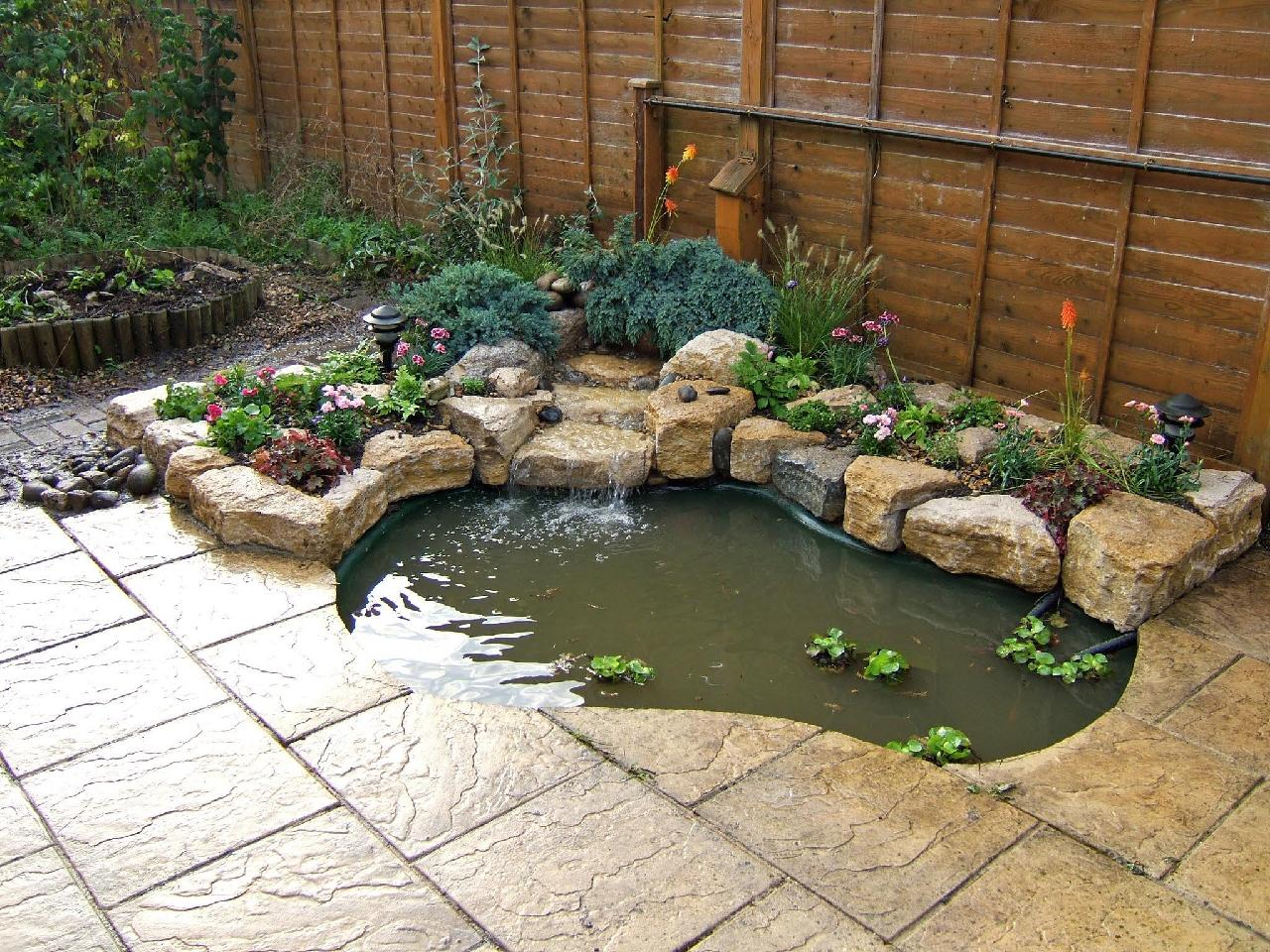 Waterfall pond Southwater