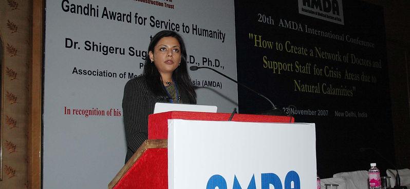 Dr Meenakshi Joshi ( Gandhi Award Ceremony)