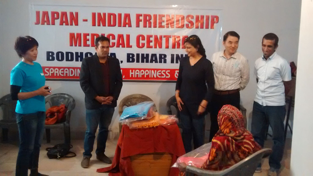 Old age social cause with Japan India NGO