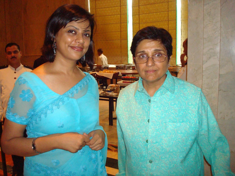 Kiran Bedi with Dr Meenakshi Joshi