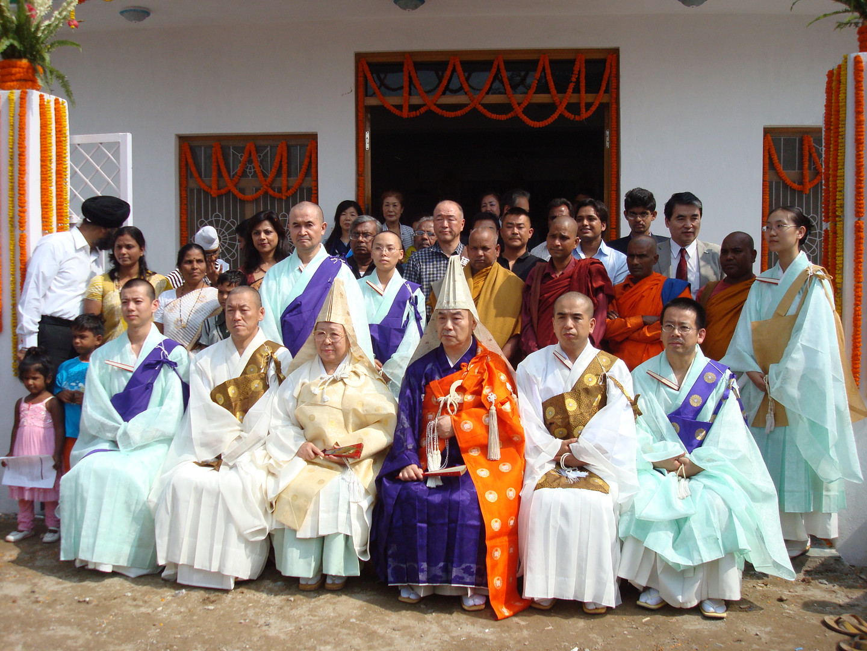 Budhists Monks from Japan Okayama with Dr Meenakshi Joshi