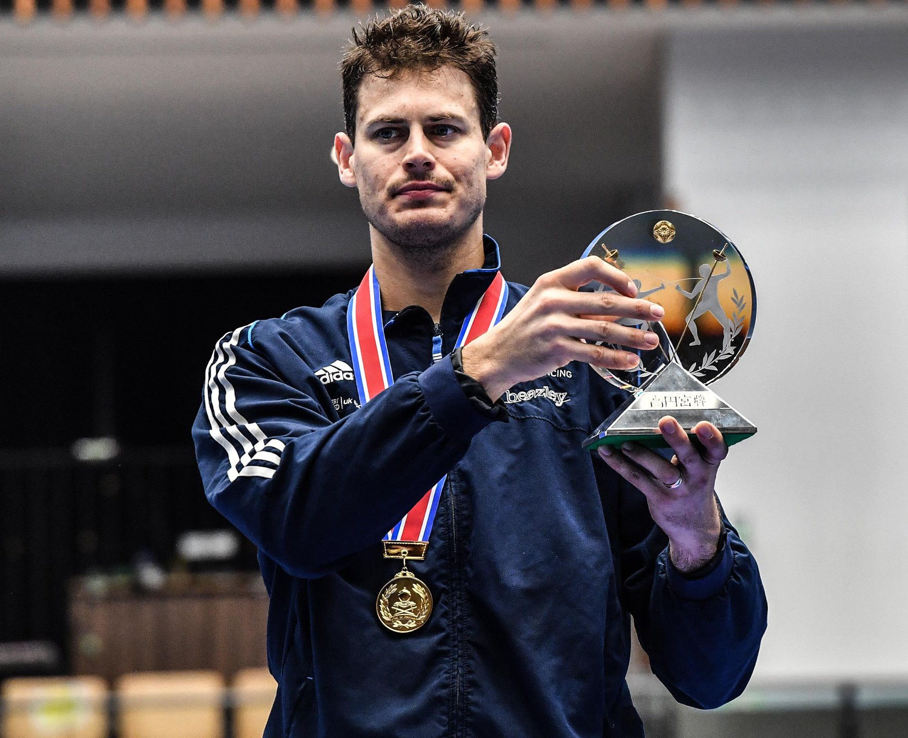 Richard with the Tokyo trophy