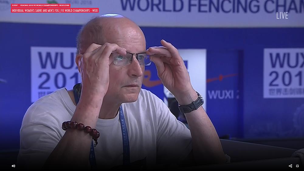 World Championships 2018 - Ziemek checks his glasses