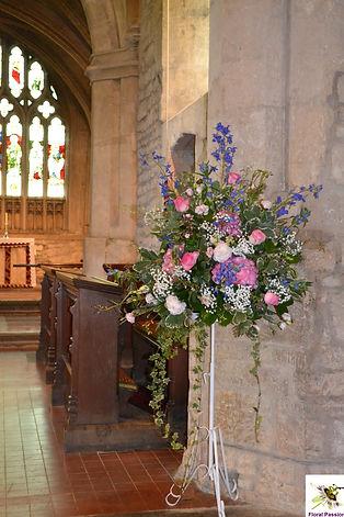 blue and pink pedestal arrangement.jpg