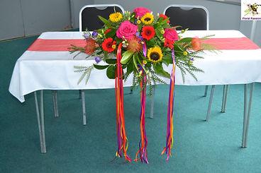 multi coloured festival ceremony table a