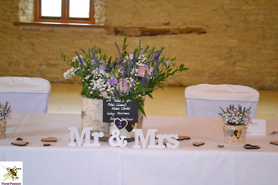 top table birch bark vases lilac, purple