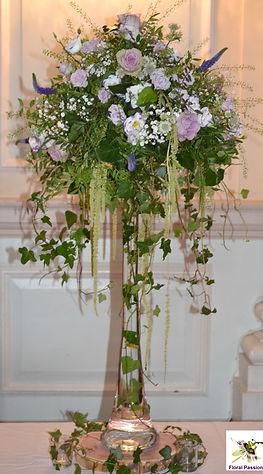 rustic arrangement lilac and mauve on ar