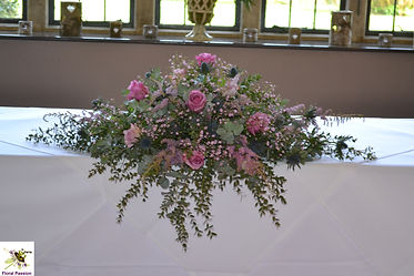 ceremony long and low display mauve dusk