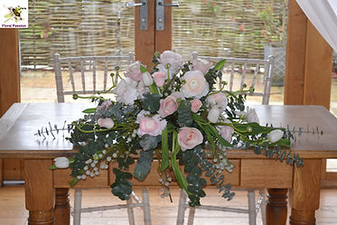 floral passion ceremony table blush grey