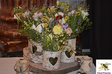 rustic spring mixed colour triple birch