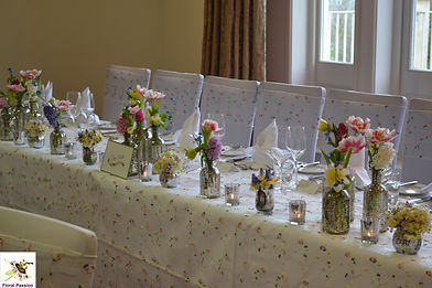 spring mercury silver bottles top table