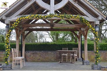 daffodil spring wedding arbour.jpg