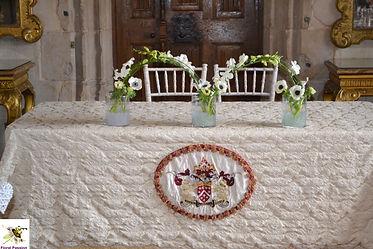 berkley castle wedding ceremony table.jp