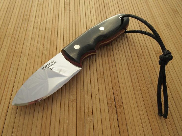 Black Micarta Flat Blade Drop Point