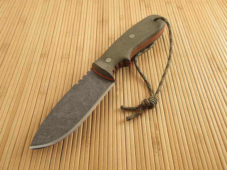 Green Canvas Micarta Utility Skinner