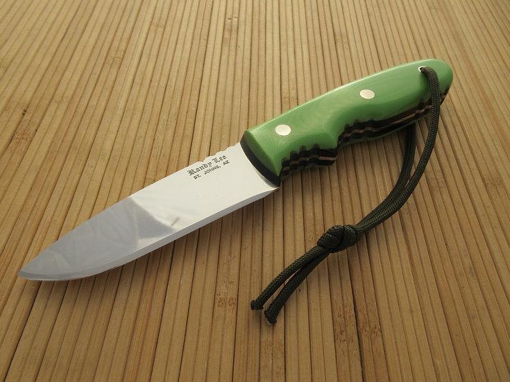 Lime Green G-10 Flat Blade Drop Point