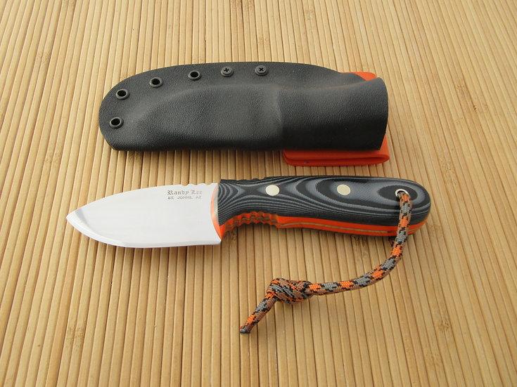 Black & Gray G-10 Flat Blade Drop Point