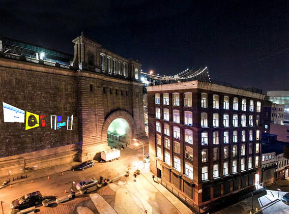 In 2018 was featured/ projected on DUMBO Overbridge