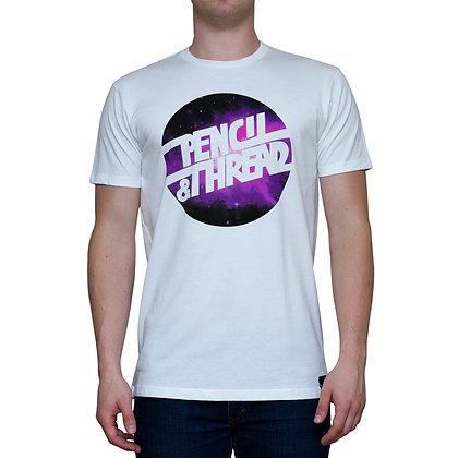 Guys Galaxy Thread Limited Edition White T-shirt