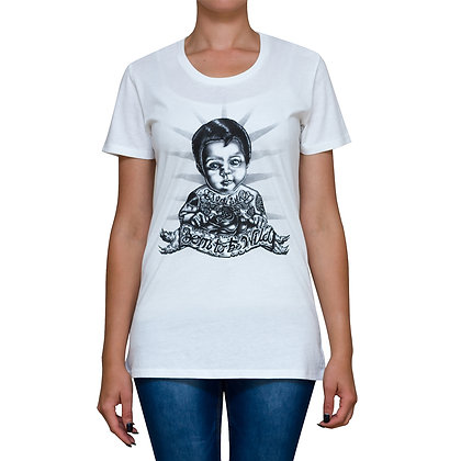 Ladies Born to be Wild White T-shirt