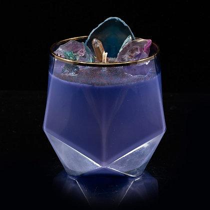 Glitter Galaxy Flamin Wax Soy Candle Gemstone Series