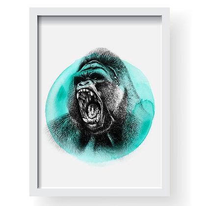 Going Ape 'O' Hug Gilcee Art Print