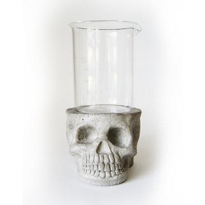 Skull Lab Planter - Natural Grey Concrete