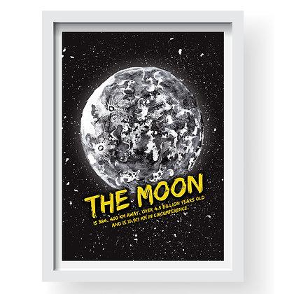 The Moon Gilcee Art Print